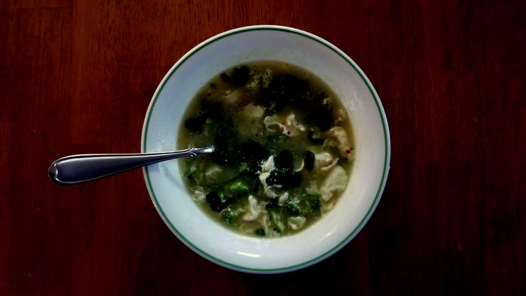 Spinach and Egg Drop Soup
