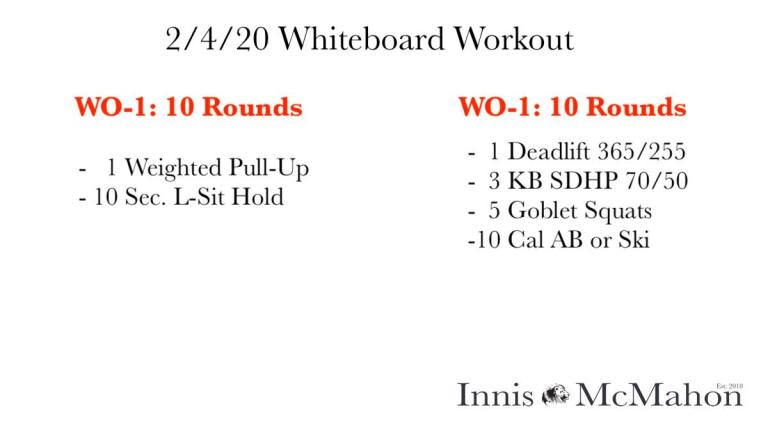 Workout Plan for February 4th