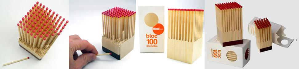 Wooden Matches Block-Bloque de fosforos-envase innovador