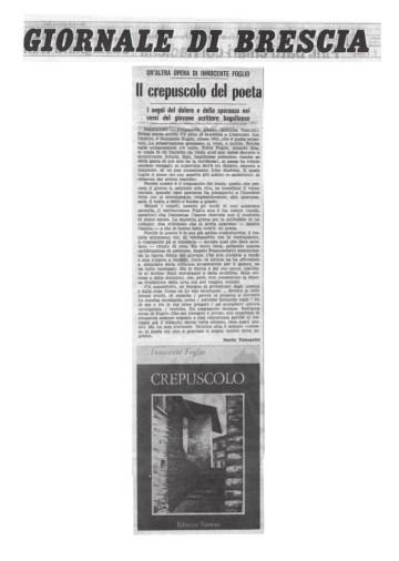 Il crepuscolo del poeta - Giornale di Brescia