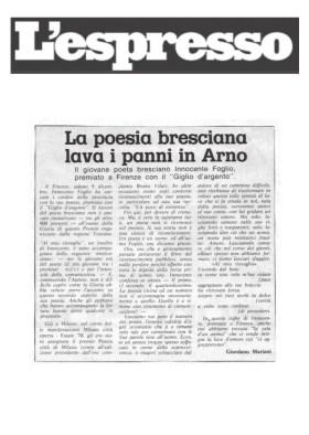 La poesia bresciana lava i panni in Arno - L'espresso