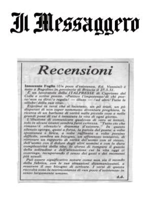Recensioni - Il Messaggero