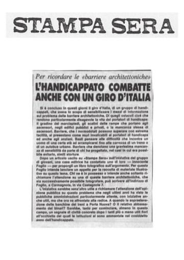 L'Handiccappato combatte anche con un giro d'Italia - Stampa Sera