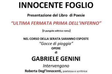Presentazione Ultima Fermata Prima Dell'Inferno a Firenze