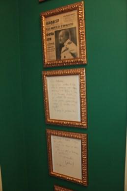 Abitazione del poeta angolo dedicato a Gabriele D'Annunzio