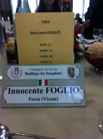 Grenoble 13 10 2013 targa conferita al poeta Innocente Foglio