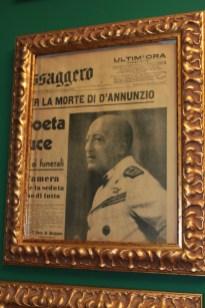 Il Messaggero annuncia la morte di Gabriele D'Annunzio