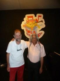 Innocente Foglio con il poeta Piero Milanese vincitorte del Grizane Cavour