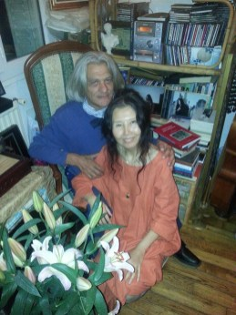 Innocente Foglio con la poetessa cinese Xu Hong