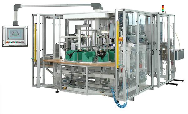 Anlage zur halbautomatischen Montage und Prüfung