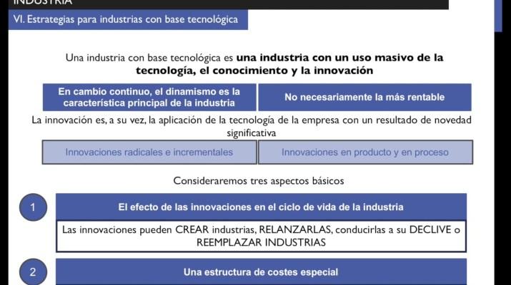 Características de las industrias con base tecnológica (DEPE I 8.6)