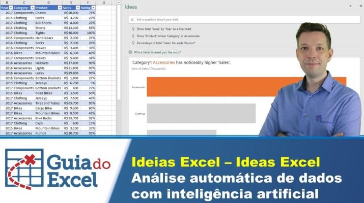 Ideias Excel – Ideas Excel - Análise automática de dados com inteligência artificial