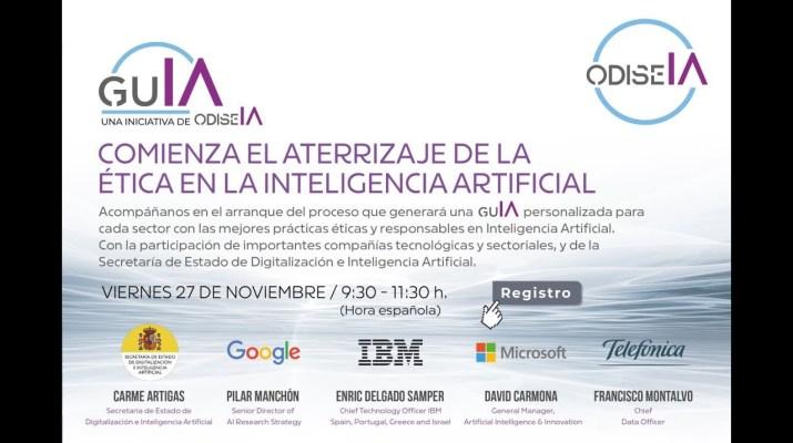 Lanzamiento iniciativa GuIA: buenas prácticas para una inteligencia artificial responsable
