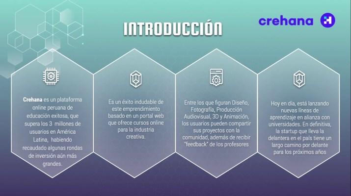 Resumen de Startup Crehana - Grupo 10 Innovación, Tec y Emprendimiento