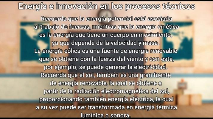 3 DE FEBRERO - Resumen - Tecnología - Energía e innovación en los procesos técnicos -3 de secundaria