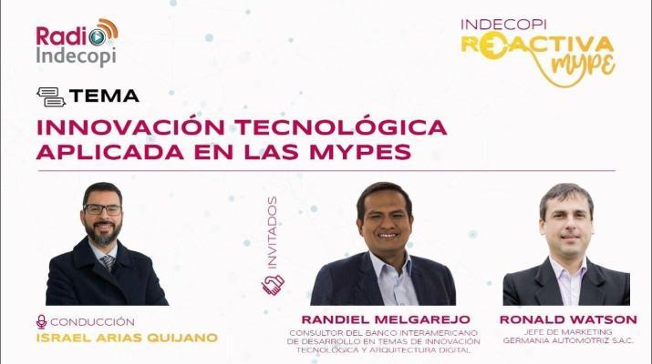 Innovación tecnológica aplicada en las Mypes - Indecopi Reactiva MYPE 14/01/2021