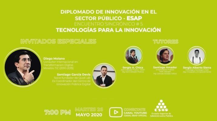 Sincrónico Curso de Innovación Pública: Tecnologías para la Innovación