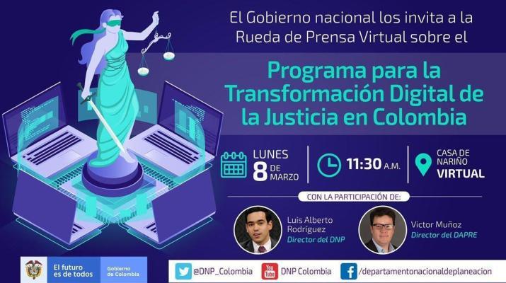 Rueda de prensa: Programa para la transformación digital de la justicia en Colombia