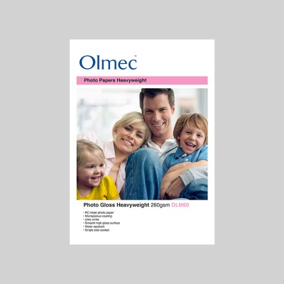 Olmec Photo Gloss Heavyweight 260gsm Resin Coated Inkjet Photo Paper