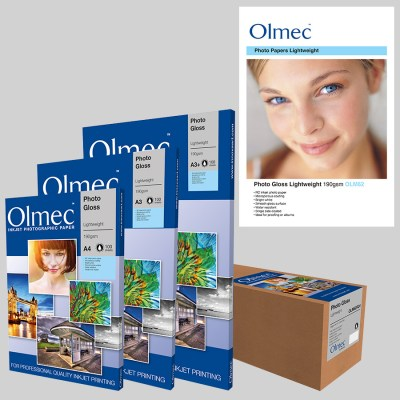 Olmec Photo Gloss Lightweight 190gsm (OLM 62) Inkjet Photo Paper