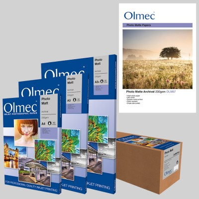 Olmec Photo Matte Archival 230gsm (OLM 67) Inkjet Photo Paper