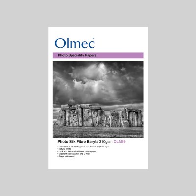 Olmec Photo Silk Fibre Baryta 310gsm Resin Coated Inkjet Photo Paper
