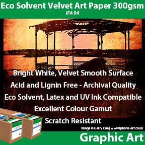 Innova Eco Solvent Velvet Art Paper 300gsm (IFA 94)   Archival Eco Solvent Fine Art Paper