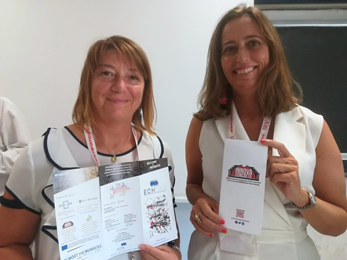 Isella-Vicini-and-Maria-Mosquera-at-NanoInnovation-2018