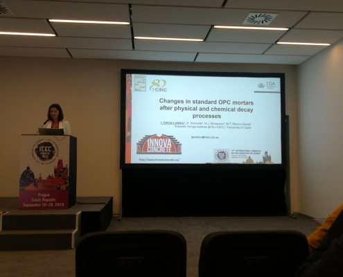 Ines Garcia Lodeiro at the 15th International Congress on the Chemistry of Cement