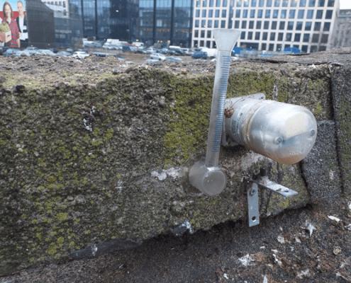 InnovaCncrete project sealed crack sensor absorption test