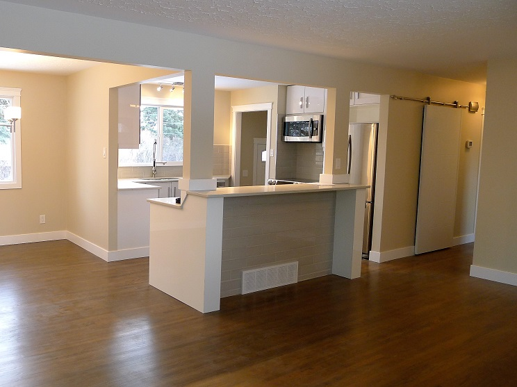 Fully renovated living space.