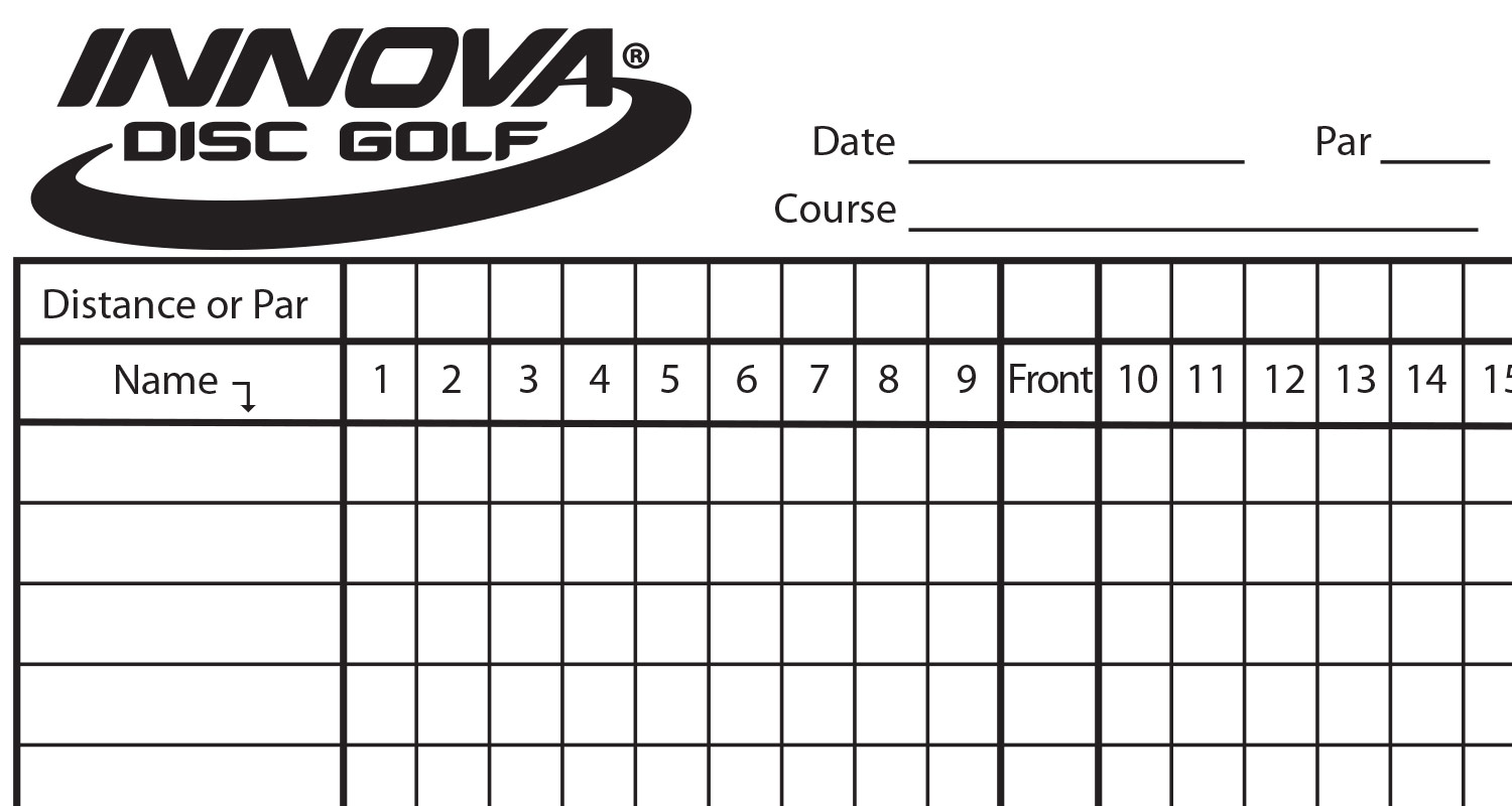 picture about Disc Golf Scorecard Printable titled Disc Golfing Scorecard Printable
