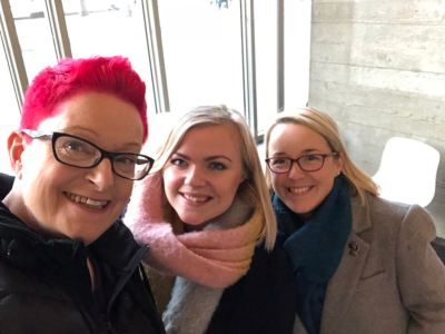 Professor Sue Black with our C-Founders, Chelsea and Jo