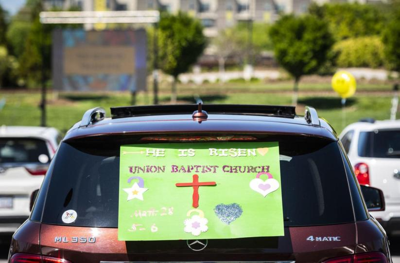 Spatial justice and equity occurred in the Innovation Quarter when it opened up its parking lot space to Union Baptist Church.
