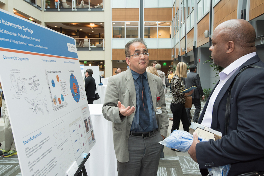 Poster presentation during an Open Think event in the Innovation Quarter.