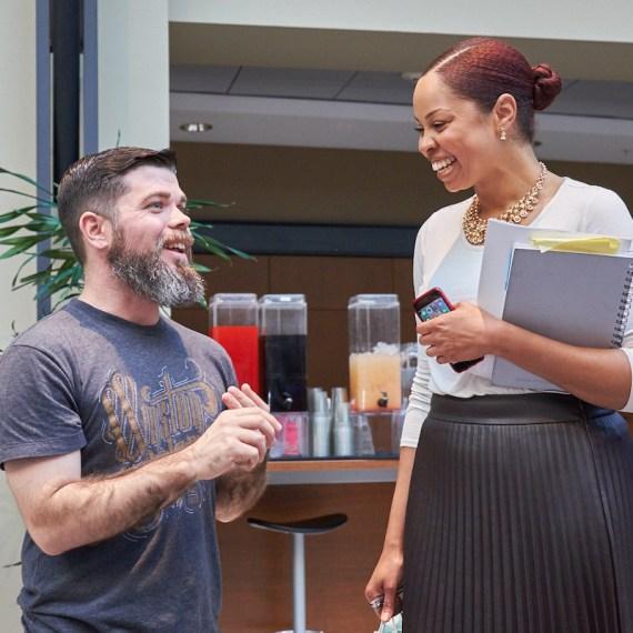 Innovation Quarter tenants having a conversation.