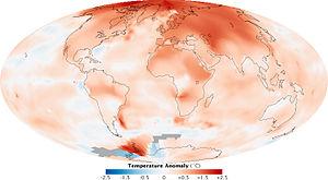 English: Global climate change 2000-2009 and 1...