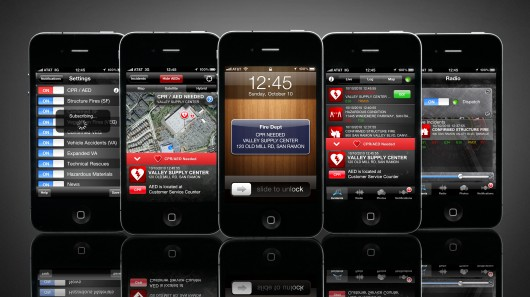 A new location-aware iPhone app has been developed that notifies registered users within the 155 square-mile San Ramon Valley when their skills are needed to save lives