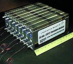 NASA Prototype Lithium-Ion Polymer Battery.