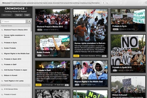 SOCIAL MEDIA SITE CURATES PROTESTS IN REAL TIME