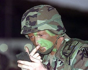 New era in camouflage makeup: Shielding soldiers from searing heat of bomb blasts