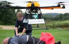 Inventors unveil drone for heart attack victims