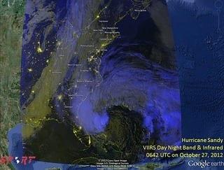 SPoRT Views Hurricane Sandy (2 of 5) (NASA, 10/27/12) (Photo credit: NASA's Marshall Space Flight Center)