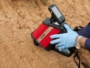 The RemScan device can measure petroleum contamination in soil with a simple pull of the trigger. (Image: Ziltek)