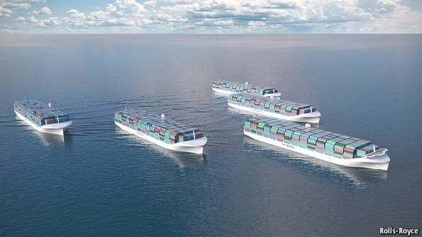 Autonomous cargo vessels could set sail without a crew under the watchful eye of captains in shore-based simulators