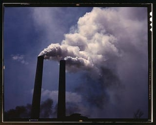 Smoke stacks (LOC) (Photo credit: The Library of Congress)