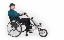 Rio Firefly handcycle turns any wheelchair into a power scooter