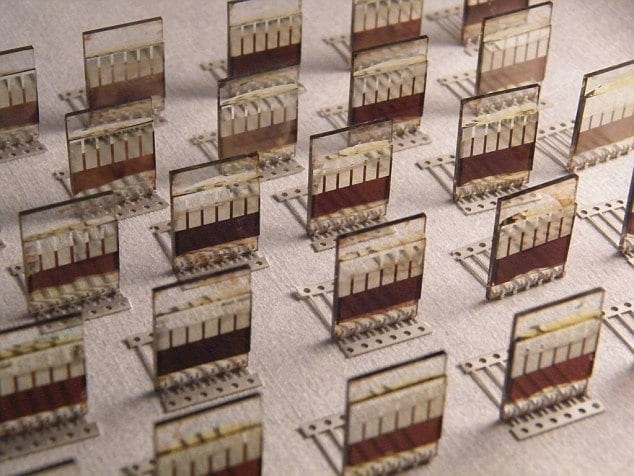 Scientists from Sheffield have developed low-cost, spray-on solar cells that can be applied to small surfaces (pictured) in a similar way to paint. The cells are made of a material called perovskite, which is cheap to produce and, when used as a spray, produces very little waste via Daily Mail Online
