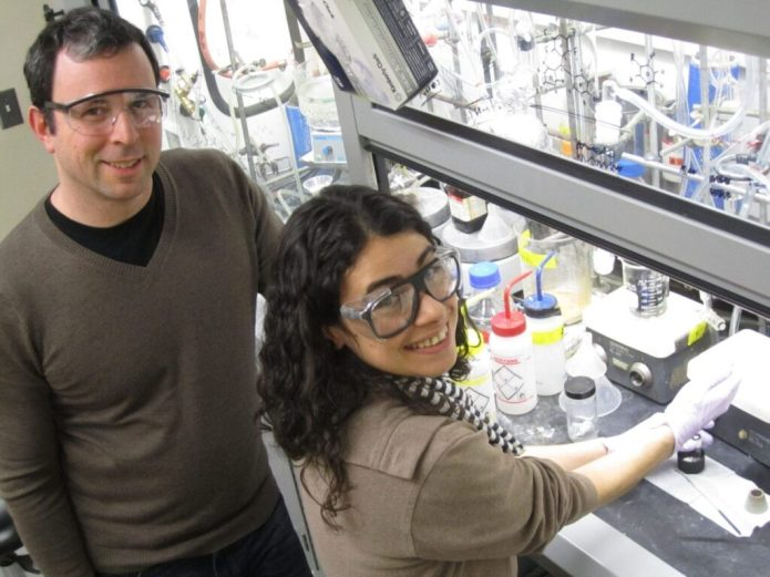 Matthew Sigman and Anat Milo, chemists at the University of Utah, and co-authors have found a way to to accurately predict the structures of the most efficient catalysts, those that would speed the process with the least amount of unwanted byproducts. Photo Credit: Lee J. Siegel / University of Utah