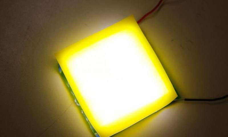 A New Design for an Easily Fabricated, Flexible and Wearable White-Light LED